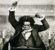 Le compositeur à la direction