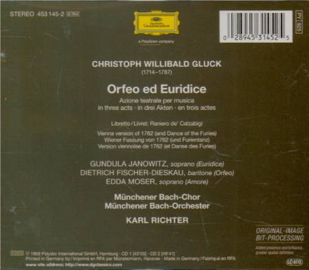 GLUCK - Richter - Orfeo ed Euridice (version italienne)