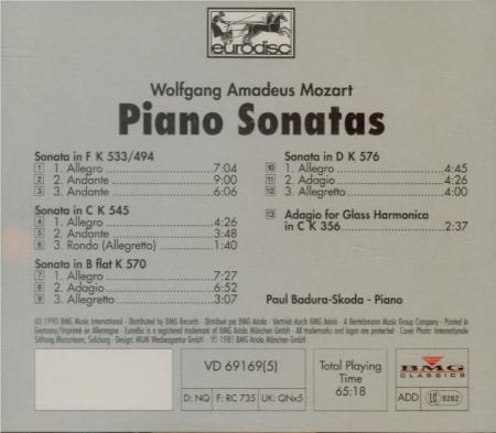 MOZART - Badura-Skoda - Sonate pour piano n°18 en fa majeur K.533