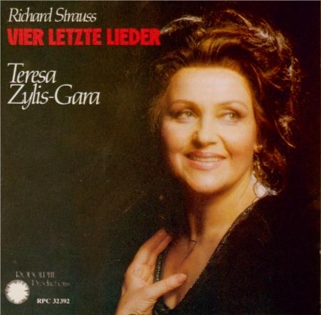 STRAUSS - Zylis-Gara - Vier letzte Lieder (Quatre derniers lieder), pour