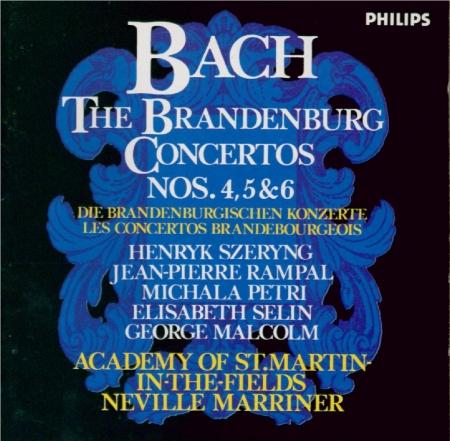 BACH - Marriner - Concerto brandebourgeois n°4 pour orchestre en sol maj