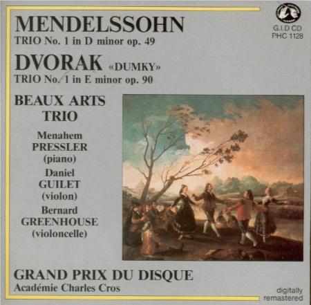 DVORAK - Beaux Arts Trio - Trio avec piano n°4 en mi mineur op.90 B.166