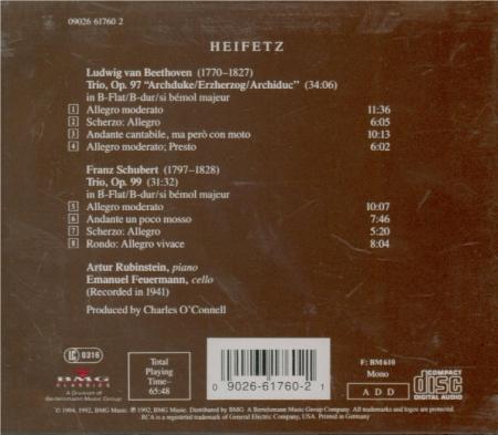 BEETHOVEN - Heifetz - Trio avec piano op.97 'L'archiduc'