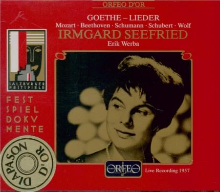 Lieder d'après des textes de Goethe (Salzbourg 15/8/1957)