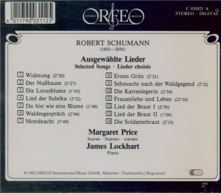 SCHUMANN - Price - Widmung (Rückert), pour voix et piano op.25 n°1