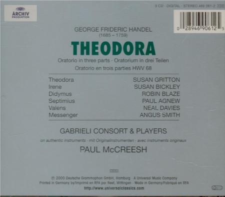 HAENDEL - McCreesh - Theodora, oratorio HWV.68