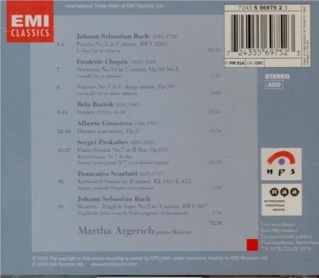 BACH - Argerich - Partita pour clavier n°2 en do mineur BWV.826 Live from the Concertgebouw 1978 & 1979
