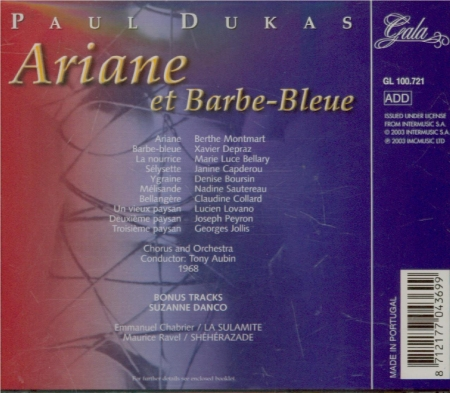 DUKAS - Aubin - Ariane et Barbe-Bleue