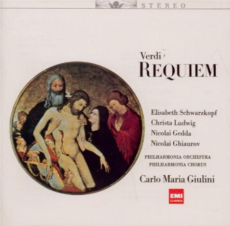 VERDI - Giulini - Messa da requiem, pour quatre voix solo, chœur, et orc HiQualityCD Import Japon