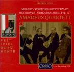 MOZART - Amadeus Quartet - Quatuor à cordes n°19 en do majeur K.465 'Dis live Salzburg 11 - 8 - 1956