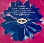 BARBER - Zinman - Adagio pour cordes