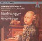 MOZART - Harnoncourt - Missa solemnis en do mineur, pour solistes, choeur