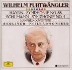 SCHUMANN - Furtwängler - Symphonie n°4 pour orchestre en ré mineur op.12