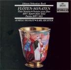 BACH - Richter - Sonate pour flûte (ou flûte à bec) et clavier en si min
