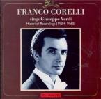 Franco Corelli chante Verdi : Historical recordings