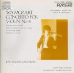 MOZART - Kantorow - Concerto pour violon et orchestre n°4 en ré majeur K Import Japon