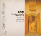 BACH - Jacobs - Geist und Seele wird verwirret, cantate pour solistes, c