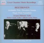BEETHOVEN - Thibaud - Sonate pour violon et piano n°9 op.47 'Kreutzer'