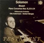 MOZART - Solomon - Concerto pour piano et orchestre n°15 en si bémol maj