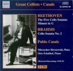 BEETHOVEN - Casals - Sonate pour violoncelle et piano n°1 op.5 n°1