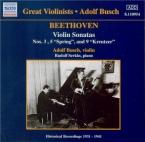 BEETHOVEN - Busch - Sonate pour violon et piano n°3 op.12 n°3