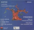 BARTOK - Lefèvre - Contrastes, pour violon, clarinette et piano Sz.111 B
