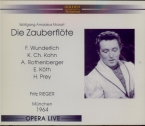 MOZART - Rieger - Die Zauberflöte (La flûte enchantée), opéra en deux ac Live, München, 26 - 7 - 1964
