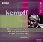 BACH - Kempff - Fantaisie chromatique et fugue, pour clavier en ré mineu