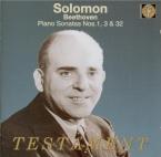BEETHOVEN - Solomon - Sonate pour piano n°1 op.2 n°1