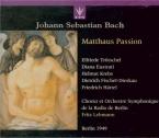 BACH - Lehmann - Passion selon St Matthieu(Matthäus-Passion), pour soli