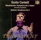 MENDELSSOHN-BARTHOLDY - Cantelli - Symphonie n°4 en la majeur op.90 'Ita
