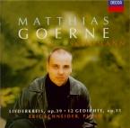 SCHUMANN - Goerne - Liederkreis (Eichendorff), cycle de douze mélodies p