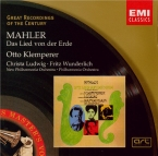 MAHLER - Klemperer - Das Lied von der Erde (Le chant de la terre), pour