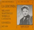 PONCHIELLI - Panizza - La Gioconda (Live MEt 30 - 12 - 1939) Live MEt 30 - 12 - 1939