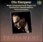MOZART - Klemperer - Symphonie n°38 en ré majeur K.504 'Prague'