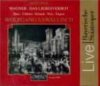 WAGNER - Sawallisch - Das Liebesverbot (La défense d'aimer), opéra WWV.3 Live München, 9 - 7 - 1983