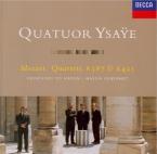 MOZART - Quatuor Ysaye - Quatuor à cordes n°14 en sol majeur K.387