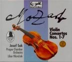 MOZART - Suk - Concertos pour violon (intégrale)