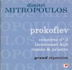 PROKOFIEV - Mitropoulos - Concerto pour piano et orchestre n°3 en do maj