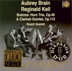 BRAHMS - Brain - Trio pour piano, violon et cor en mi bémol majeur op.40
