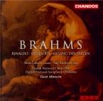 BRAHMS - Albrecht - Rinaldo (Goethe), cantate pour ténor et choeur d'homm
