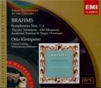 BRAHMS - Klemperer - Symphonies (intégrale)