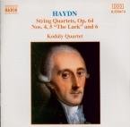HAYDN - Kodaly Quartet - Quatuor à cordes n°66 en sol majeur op.64 n°4 H