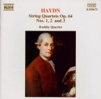 HAYDN - Kodaly Quartet - Quatuor à cordes n°65 en do majeur op.64 n°1 Ho