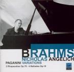 BRAHMS - Angelich - Quatre ballades pour piano op.10 'Edward'