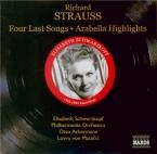STRAUSS - Schwarzkopf - Vier letzte Lieder (Quatre derniers lieder), pou