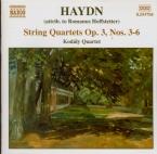 HAYDN - Kodaly Quartet - Quatuor à cordes n°15 en sol majeur op.3 n°3 Ho