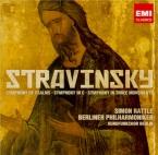 STRAVINSKY - Rattle - Symphonie en trois mouvements, pour orchestre