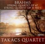 BRAHMS - Takacs Quartet - Quatuor à cordes n°3 en si bémol majeur op.67