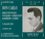 VERDI - Giulini - Don Carlo, opéra (version italienne) Live London, 12 - 5 - 1958